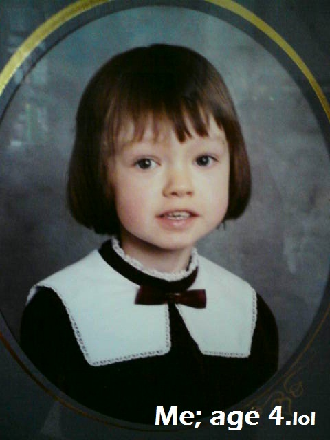 Me aged 4