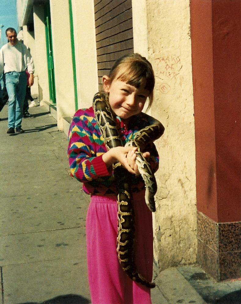 5 years old; w snake