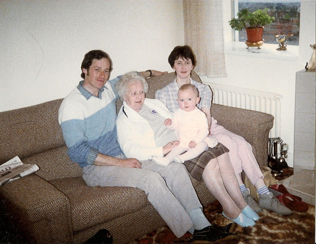 Me as a baby with parent,other great gran